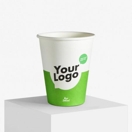 Gobelet en carton personnalisé avec votre logo certifié bio et FSC