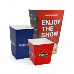 Boîtes à popcorn personnalisées