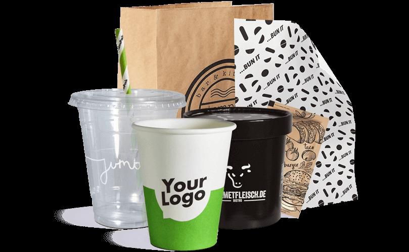 Emballage à emporter avec votre logo imprimé.
